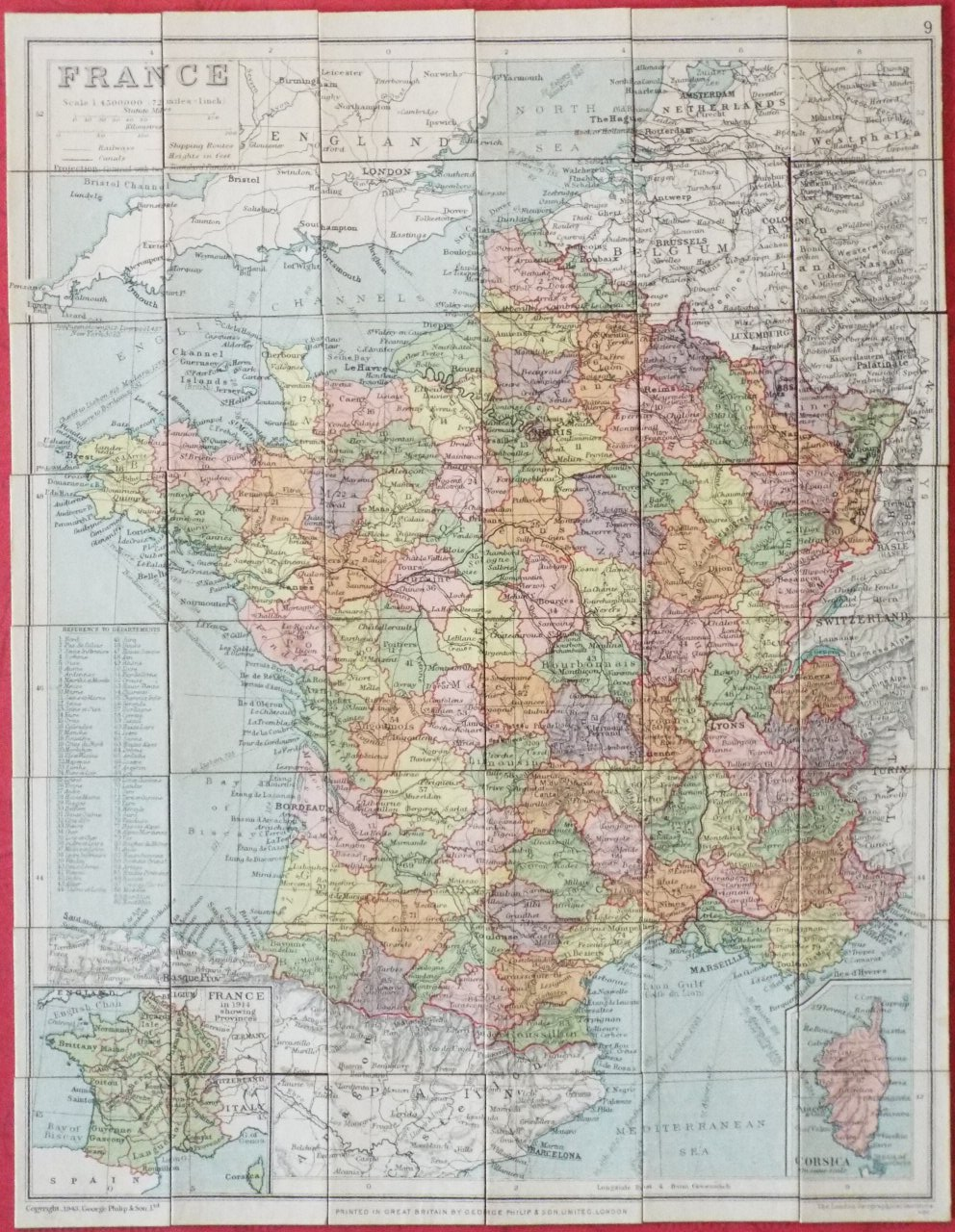 Map of France - Philip